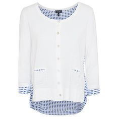 Warm up in classic, preppy-inspired style this season! Armani Jeans delivers double the style with a contrasting faux blouse layer underneath a classic knit cardigan with Excel Clothing! Armani Women, Jeans Button, Armani Jeans, Knit Cardigan, Preppy, Branding Design, Contrast, Layers, Tunic Tops