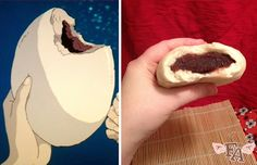 """(image from Anime Food Gifs )    Food plays a major role in the Studio Ghibli  animated film """"Spirited Away"""" , not only ..."""