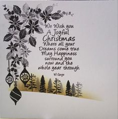 Christmas Verses, Homemade Christmas Cards, Handmade Christmas, Christmas Ideas, Christmas Crafts, Xmas Cards, Holiday Cards, Greeting Cards, Cardio Cards
