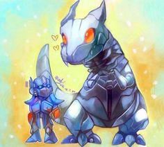 Optimus Prime and Grimlock