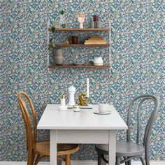 Welcome to Sandberg Wallpaper. We are a Swedish design company specialising in designer wallpaper and home accessories. Hallway Wallpaper, Dining Room Wallpaper, Kitchen Wallpaper, Wallpaper Ideas, Dark Blue Wallpaper, Blue Wallpapers, Marimekko Wallpaper, Pattern Wallpaper, Swedish Design
