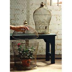 Antique Metal Nesting Wire Bird Cage, Set Of 2 Kalalou Birdcages Home Accessories Home Dec
