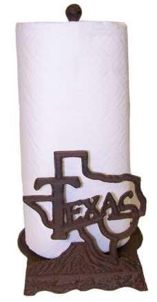 Texas Paper Towel Holder-Great Texas Kitchen Decor!