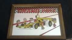 Snoopy  GRAND PRIX  mirror picture Formula 1, Grand Prix, Worlds Largest, Snoopy, Mirror, Frame, Pictures, Stuff To Buy, Ebay