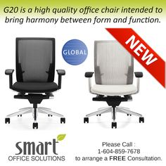 Introducing the New from Global. Please call for more details - Smart Office, Chair, Chairs