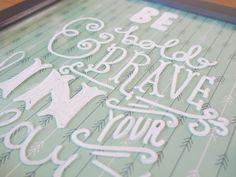 diy lettering art