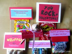 Valentine Candy Crafts   We also have Dinah from DIY Inspired with a free Valentine Printable!