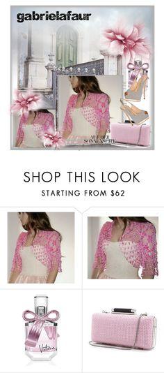 """Wedding Crochet Knit Shawl Shrug Capelet pink"" by sabinn ❤ liked on Polyvore featuring Victoria's Secret, Diane Von Furstenberg and Giuseppe Zanotti"