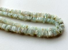 Aqua Blue Opal Beads Natural Blue Opal Square by gemsforjewels