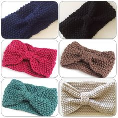 Knitted Hair wraps bow wrap ear warmer by on Etsy Loop Scarf, Knot Headband, Ear Warmers, Baby Headbands, Wraps, Bows, Crochet, Hair, Handmade