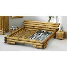 Lit En Bambou Naturel Komodo 180x200 Mobilierdasie Com Bamboo Building Furniture