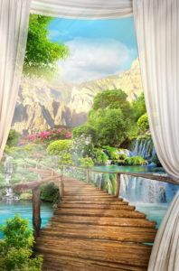 Фрески КЛАССИЧЕСКИЕ « Фото Фреска Miracle Garden, Desktop Background Pictures, Hindu Deities, 3d Wallpaper, Outdoor Furniture, Outdoor Decor, Decoupage, Porch, Waterfall