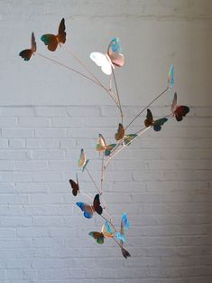 News FREE SHIPPING 7/22 8/20 Copper Butterfly Mobile by jfjones