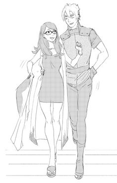 BoruSara ^ Best thing about this is that Sarada is wearing the hokage cloak.