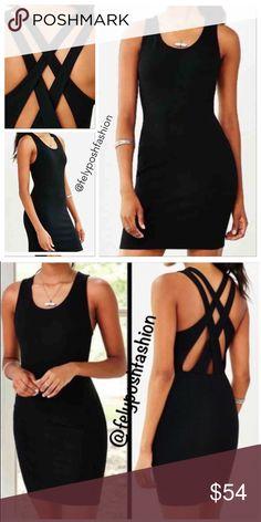 3e71a6af6ce4 Urban Outfitters Cross-Back Ponye Bodycon Dress Urban Outfitters Cross-Back  Ponye Bodycon Dress