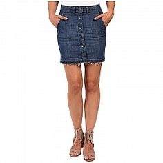 Splendid Cesaire Button-Front Denim Skirt
