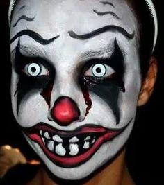 Creepy Halloween Doll Make up Video Halloween Series: Killer Clown Makeup Tutorial Emily (Corpse Bride) Halloween . Scary Clown Face, Creepy Clown Makeup, Scary Clown Costume, Clown Face Paint, Clown Faces, Scary Clowns, Scary Face Paint, Halloween Clown, Halloween Series