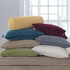 Velvet Pillow Covers Gold bolster $34.00  The Company Store