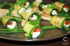 Фото к рецепту: Рулеты из кабачков (цукини)