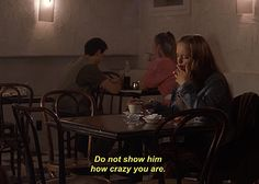 "Story of my life ""Do not show him how crazy you are."" Christina Ricci in Prozac Nation Prozac Nation, Citations Film, Just Like Heaven, Bon Film, Movie Lines, About Time Movie, Film Quotes, Film Stills, How I Feel"