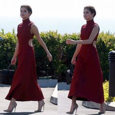 "Selena Gomez at a friends wedding wearing Emilia Wickstead's ""Danielle"" Dress.  Follow Pin @alinafashinova for more SG styles."