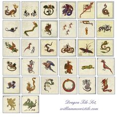 Pinned for later from William Morris Tile: Thirty-two, dragon tiles. Know your dragons. Amaze your friends! Medieval Dragon, Motifs Textiles, Medieval Manuscript, Pre Raphaelite, William Morris, Middle Ages, Home Art, Castles, Knowing You