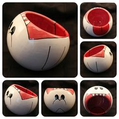 Boo the Ghost Ceramic Bowl Made to Order and by skotkincreations, $35.00