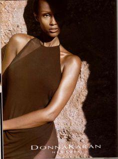 Iman by Peter Lindbergh - Donna Karan S/S 1997