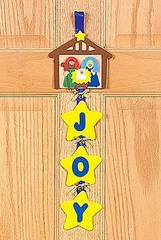 "nativity crafts for preschoolers | Platypus Crafts - Nativity ""Joy"" Door Hanger Craft Kit"