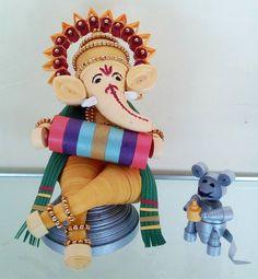 Get eco-friendly Ganpati decoration ideas for home Ganpati. Discover DIY Ganpati…