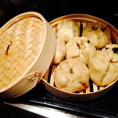 Experimenting with my new bamboo steamer making vegetarian baozi (Chinese Steamed Buns) nom Steamed Buns, Steamer, Nom Nom, Bamboo, Chinese, Vegetarian, How To Make