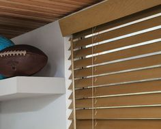 Enjoy classic wood blind styling with sleek cordless control. A look that's always in style, our Cordless Wood Blinds can be precisely raised, lowered and positioned without visible lift cords. Shown in Honey/Oak Wood Valance, Wood Blinds, Window Coverings, Window Treatments, Smith And Noble, Play Rooms, Child Safety, Safety Tips, Kid Spaces