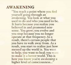 This resinates SO much with me right now. I feel myself awakening, its wonderful yet terrifying all at once. Learning not to pitty those who are asleep is my current challenge. Spiritual Awakening Quotes, Spiritual Enlightenment, Spiritual Quotes Universe, Spiritual Path, Spiritual Wisdom, Reiki, Mantra, Quotes To Live By, Life Quotes
