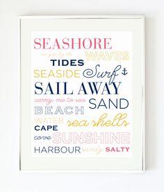 Sea Shore Print by prettychicsf