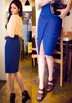 [Chuu]アシンメトリースリットミディアムタイトスカート 大人な表情のあるミディアム丈のタイトスカートです。 アンバランスな切替ラインのフリンジ加工がフラなテイストをプラスします。 センターにはスリットが女性らしいムードを演出し、動きやすくさも抜群◎ シンプルですっきりとしたシルエットでどんなアイテムとも相性の良い1枚です。