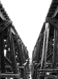 Double Railroad Trestle and Overpass, Little Vince Bayou, Shaver, Pasadena, Texas