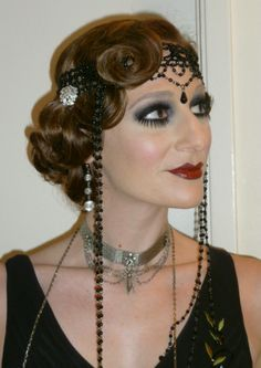 Roaring 20 S Hairstyles for Long Hair | Twitter / eugeneconde: Roaring 20's Makeup and Hairstyle ...
