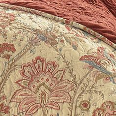 Warm in tone and traditional in motif, the Serene quilt collection is surprisingly versatile enough for bedrooms with a transitional design aesthetic. Bill Of Sale Template, French Country Decorating, Wedding Gift Registry, Bedding Shop, Fine China, Painted Furniture, Serenity, Comforters, Favorite Things