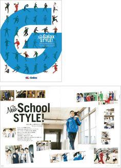 AD/島村 季之 D/坂口 智彦 スポーツウェアメーカー GALAXのカタログ2冊を制作しました。 一つは GALAX のスクール... All Design, Book Design, Layout Design, Print Design, Graphic Design, Book Layout, Page Layout, Editorial Layout, Editorial Design
