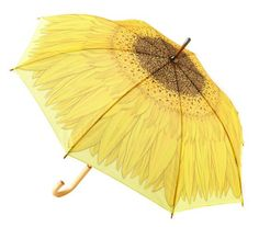 Yellow Sunflower Stick Umbrella | When it comes to standout umbrellas, these picks rain supreme.