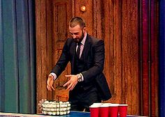 That time he played beer pong. | 32 Times Chris Evans Was Too Handsome For His Own Good