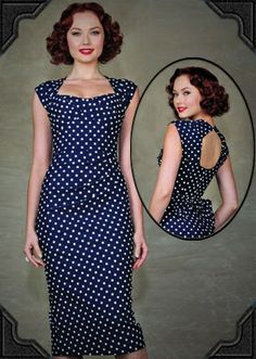 Love Dress in Navy Dots - Deadly is the Female   elfsacks