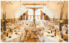 Woodland Barn Wedding Tall centerpieces w branches