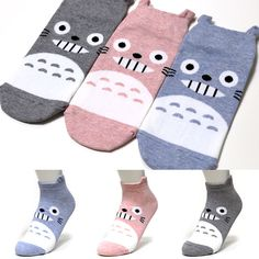 TOTORO 3Pairs Cartoon Character Socks Women Girl Big Kids Cute Socks Korea Socks #KISSSOCKS #Casual