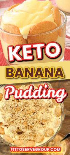 Keto banana pudding a delectable low carb option for those who are missing this classic Southern dish while doing keto. It's a mock banana pudding option that is sure to fool your taste buds. low carb banana pudding| keto banana pudding recipe| sugar-free banana pudding| gluten-free banana pudding Keto Pudding, Sugar Free Pudding, Banana Pudding Recipes, Banana Pudding Cheesecake, Low Carb Deserts, Low Carb Sweets, Pavlova, Pampered Chef, Sugar Free Cheesecake