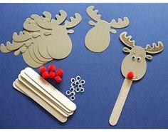 6 Rudolph Bookmark Christmas Craft Kits