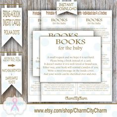Bring a Book Instead of a Card Blue Polka Dots by charmcitycharm