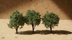 MINIATURE ASH TREE (set of 3) - Z Scale (1/300-1/200) - for scenery, farm layouts, model railroads and architecture and landscape diorama by AllScalesModels on Etsy