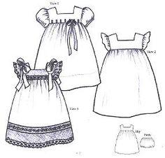 Classic little girl dress patterns