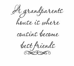 a grandparent's house is where consigns become best friends